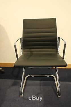 2.4m new boxed conference boardroom table walnut and 6 NEW Eames style chairs