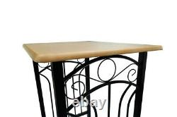 2 Seater Dining Table And Chairs Breakfast Bar Kitchen Room Compact Furniture