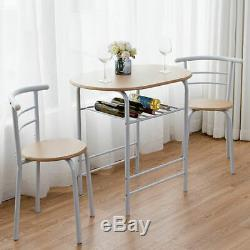 2 Seater Dining Table And Chairs Breakfast Kitchen Room Small Furniture Set UK