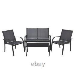 4 Piece Garden Comfortable Furniture Set Outdoor Seating Chair And Table