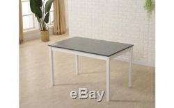 4 Seater Kitchen Table and Chairs Set Grey Dining Breakfast Compact Space Saving