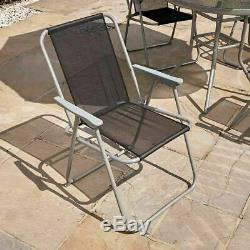 6 PIECE GARDEN OUTDOOR PATIO SUMMER FURNITURE ROUND TABLE AND CHAIRS SET Wido