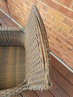 6 Seater Rattan Garden Glass Top Table And Chairs Parasol And Base Furniture Set