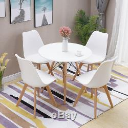 80cm Round Design Dining Table and Chairs Set Retro Lounge for Dining Room