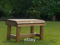 8 Seater 8 Person Seats Chairs Garden Bench + 6ft Wooden Table Set Furniture BBQ