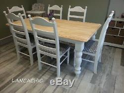 Absolute Stunning Shabby Chic 6FT Farmhouse Table and chairs