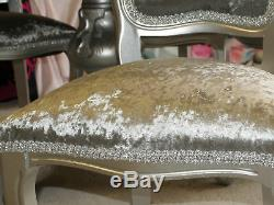 Absolutely-Stunning-Silver-Glitz-Shabby-Chic-Italian-table-and-6-Chairs