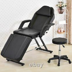 Adjustable Massage Couch Bed Chair&Stool Fit Beauty Salon Table Tattoo Therapy