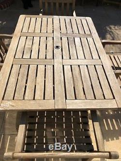 Alexander Rose Garden wooden table and chairs furniture