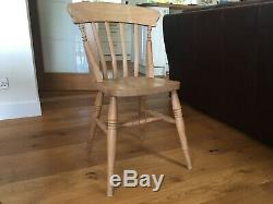 Antique Pine Farmhouse Table and Eight chairs