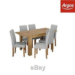 Argos Home Miami Extendable Dining Table and 6 Chairs Grey
