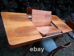 Art Deco Model H-214 Dining Set by Jindrich Halabala table and 4 chairs 1950's