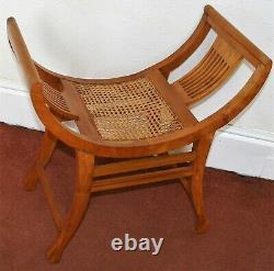 Arts and Crafts Antique Edwardian Curule Savonarola X-frame Chair