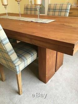 Barker and Stonehouse Solid Teak Dining Table & 6 Chairs, Good Condition