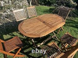 Bentley Wooden Garden Furniture 6 Chairs And Table (Refurbished)