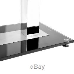 Black Large Rectangle Chrome Metal Glass Dining Table 6 Persons and 4 Chairs Set