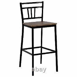 Breakfast Bar Dining Table and 2 High Chairs Stools Kitchen Dining Room Modern