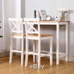 Breakfast Bar Set Dining Table And Chair Stool Pinewood Kitchen Bistro Furniture