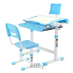 Children Table and Chair Set, Kid Study Desk and Chair Set for age 3 to 15