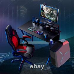 Computer Desk Gaming Racing Desk and Chair Set PC Table with Cup Holder Office UK