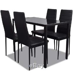Contemporary Dining Set with Table and High Back Dining Chairs Kitchen Furniture