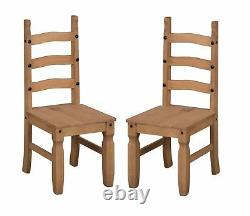 Corona Dining Table and 4 Chairs Set 4' Mexican Solid Pine by Mercers Furniture