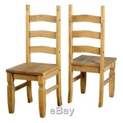 Corona Large 6ft 180CM Dining Table And 6 Chairs Distressed Solid Waxed Pine
