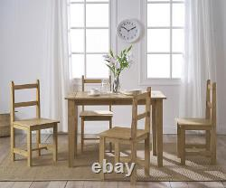 Corona Solid Pine Dining Table and 2 /4 Seater Chairs Set Dinning Furniture Home