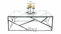 Couchtisch Kaffetisch Wohnzimmer Tisch TUTUMI Glamour Glastisch CT-020 CT-021
