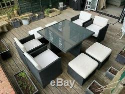 Cube 8 Seater Outdoor Garden Table And Chairs By Oceans