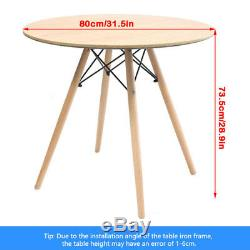 Dining Round Table And 4 Chairs Set Lounge Cafe Bar Office Study Desk Inspired