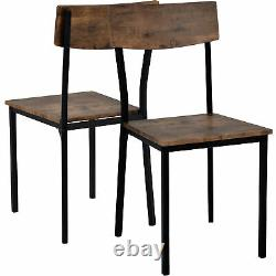 Dining Table Chair and Bench Set Wooden Steel Frame Kitchen Dining Room Home