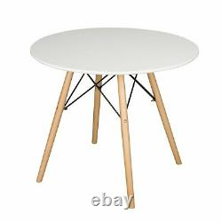 Dining Table and 2/4 Chairs Set Round Table Small Dining Table Kitchen Lounge