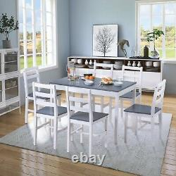 Dining Table and 4 / 6 Chairs Bench Set Solid Pine Wooden Home Kitchen Furniture