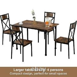Dining Table and Chairs 4 Seater Solid Wood Room Kitchen Furniture Dining Set