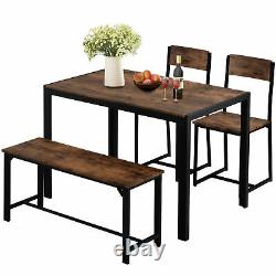 Dining Table and Chairs Bench Set Breakfast Bar Kitchen Dining Room Furniture