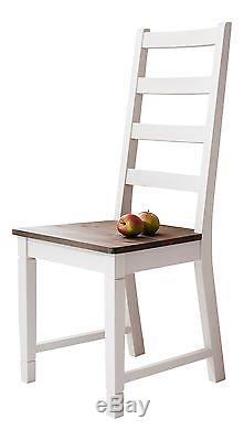 Dining Table with Chairs Dining Set in White and Dark Pine Canterbury