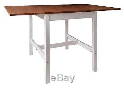 Dropleaf Dining Table with Chairs Dining Set Kitchen Spacesaving Annika