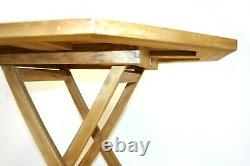 EX HIRE Teak Wooden Garden Furniture Sets, 4 Chairs and 1 Table