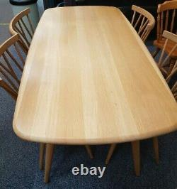 Ercol Shalstone Light Oak Dining Table and 4 Chairs. Excellent