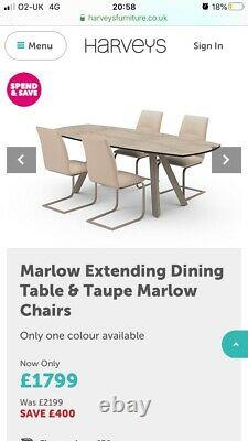 Extending dining table and chairs used