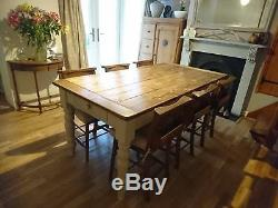 Farmhouse Table and Chairs Made to Order (Vintage Pine Antique)