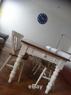 Farmhouse Table and Chairs Made to Order (Vintage Pine Shabby Chic Antique)