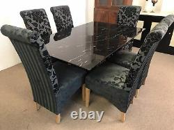 Florence Marble DIning Table and 6 ChairsGrand DesignsUnbeatable Prices