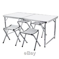 Folding Picnic Table and Chairs Stool Camping BBQ Outdoor Equipment Portable New