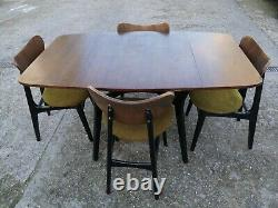G Plan dining table and 4 butterfly chairs Librenza Vintage Retro/ Mid Century