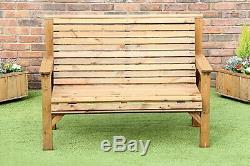 Garden Furniture Complete Set 1 X Bench 2 X Chairs 2 X Trays And Coffee Table