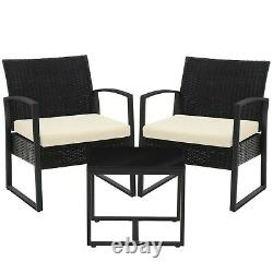 Garden Furniture Set Patio Set Outdoor Patio Furniture 2Chairs 1Table GGF010M02