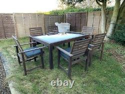 Garden Furniture Table And Chairs (with Cushions)