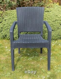 Garden Patio Furniture Set 4 Chairs Table Coffee Bistro Set Rattan Style Outdoor